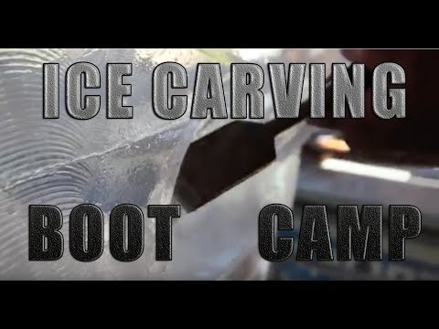 Ice Carving Boot Camp W/ Elegant Ice & Ice Sculpting Tools