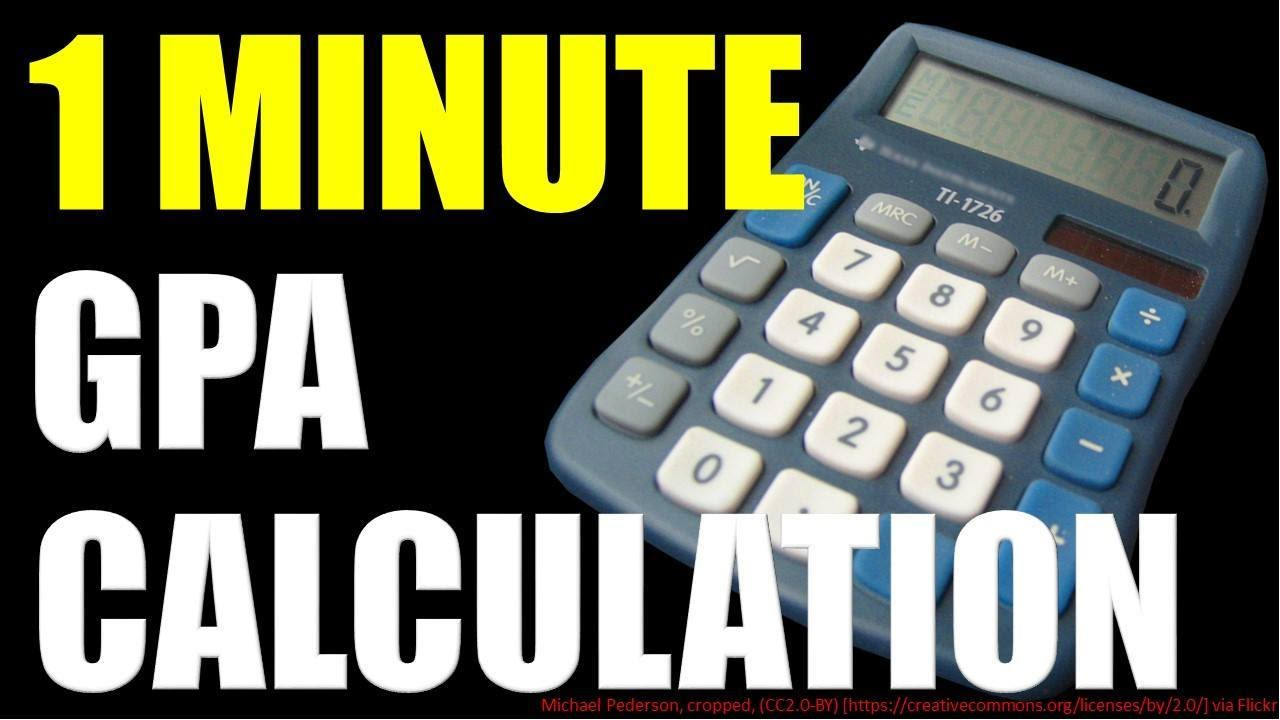 How To Calculate Gpa (in 1 Minute)