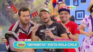 """""""Sepamoya"""" la rompió en los estudios de Hola Chile"""