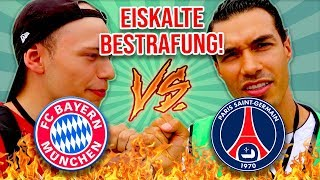 FC BAYERN vs PSG LIVE WETTE + BESTRAFUNG | FT. STRIKERS