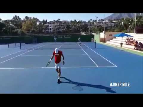 Novak Djokovic Practice for Rogers Cup - Marbella 2018 (HD)
