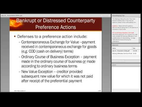 Energy Bootcamp Series Session 3: Bankruptcy and Buying Dist