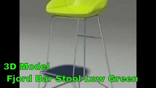 3d Model Fjord Bar Stool Low Green