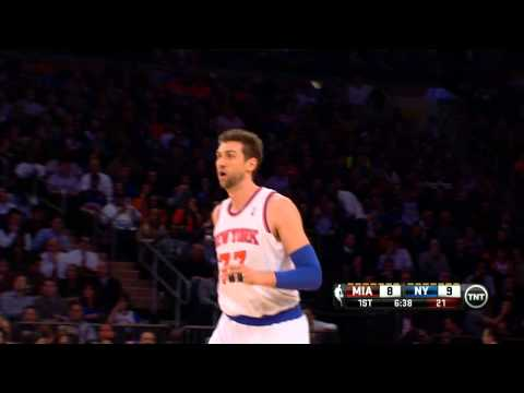 Andrea Bargnani Throws Down The Reverse Jam
