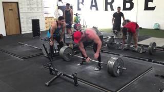 405lb single arm deadlift for reps | Bradley Martyn | 500lb next??!