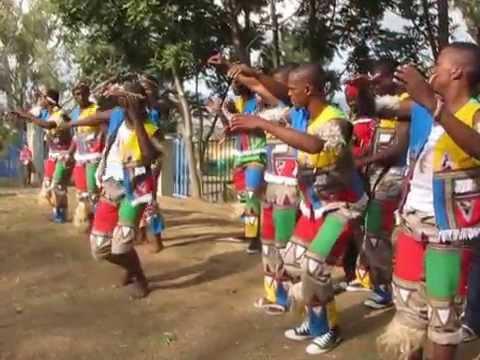 Tribal dance in Ohlange High School near Durban, South Africa