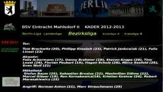 BSV Eintracht Mahlsdorf II Kader 2012-2013 Bezirksliga 2. Abteilung