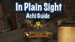 jessiehealz - In Plain Sight Achievement Guide (World of Warcraft)
