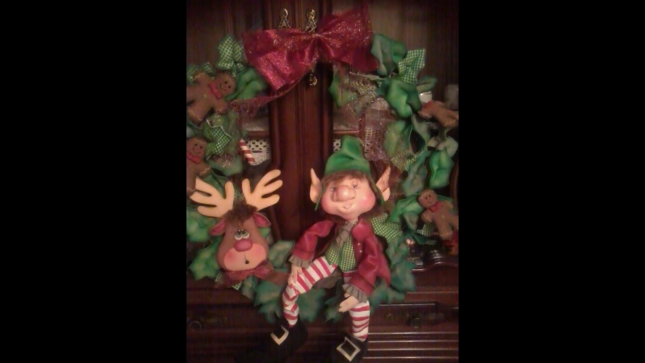 Corona Con Duende De Navidad En Goma Eva Youtube