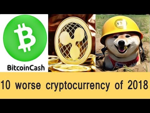 Top 10 Cryptocurrency Worse For Investment In 2018