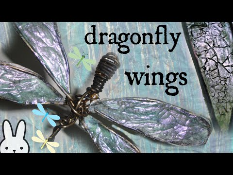 DIY: How To Make Translucent Dragonfly Wings/ Tissue Paper /Crackle Medium/Tutorial/Mixed Media