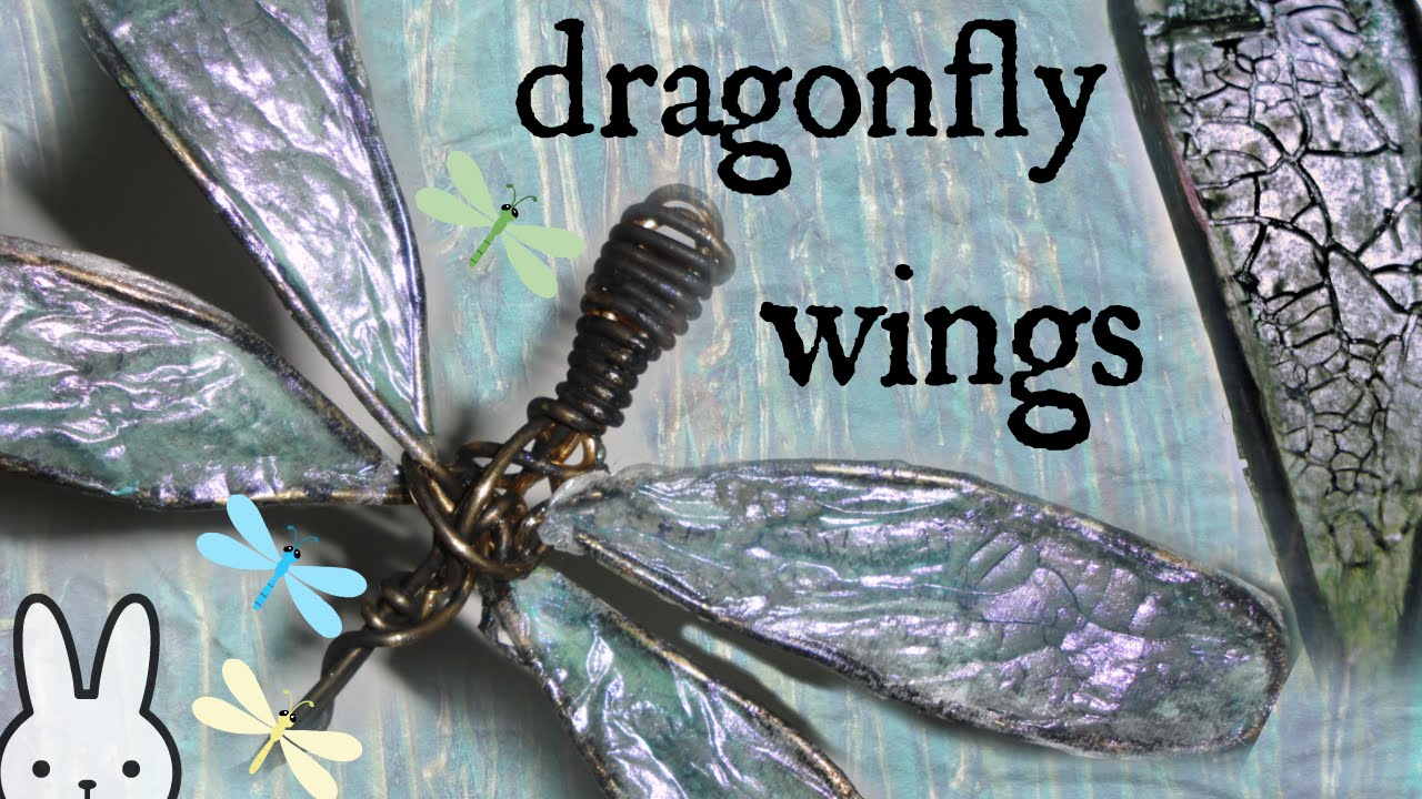 Diy How To Make Translucent Dragonfly Wings Tissue Paper
