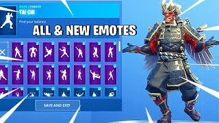 *NEW* Fortnite Shogun Skin arrived to Item Shop Today / Emotes collection showcase with Shogun Skin
