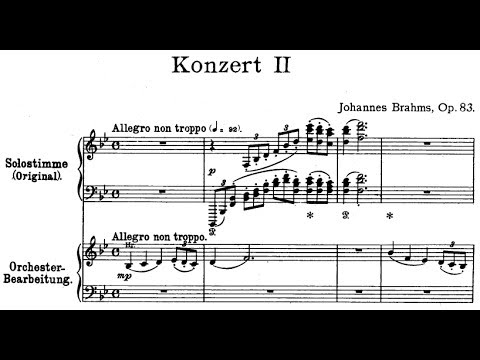 Concerto No. 1 for Piano and Orchestra in B-flat minor (B-dur). Movement II - Score