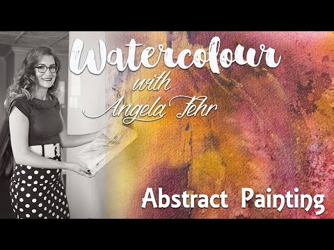 Paint an Autumn themed, Brusho Inspired Abstract in Watercolour