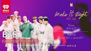 "BTS Speaks On Their New Version Of ""Make It Right"" Featuring Lauv 