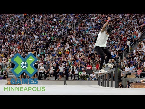 Nyjah Huston wins Men's Skateboard Street bronze | X Games Minneapolis 2017