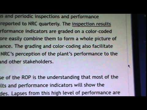 USA NUKE NEWS: NJ, OYSTER CREEK NUKE PLANT, NRC INSPECTION