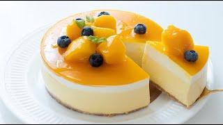 ЛУЧШИЙ ДЕСЕРТ! ЧИЗКЕЙК ИЗ ПЕРСИКА И МАНГО! Рецепт холодного чизкейка.Cheesecake  peach mango