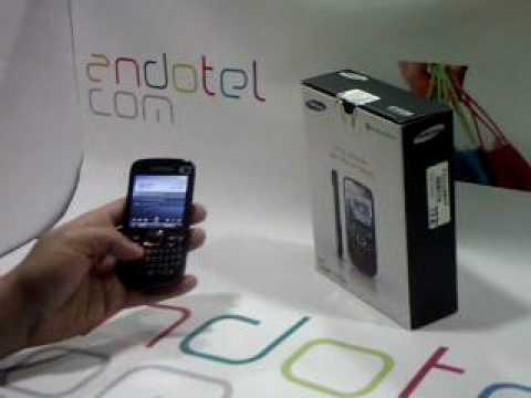 Samsung B7330 Omnia Pro. Demostracion a cargo de Andotel.com del Samsung B7330 Omnia Pro