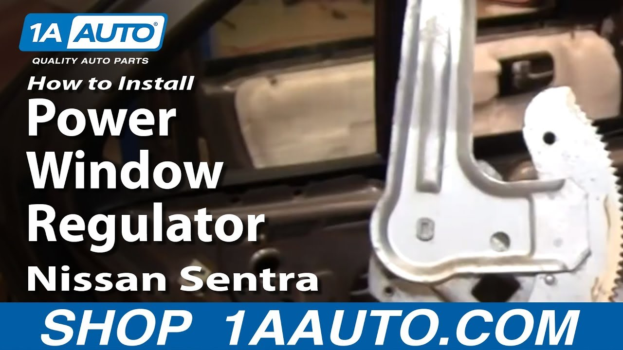 How To Replace Window Regulator 00 06 Nissan Sentra Youtube