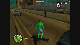 gta sa incredible hulk mod