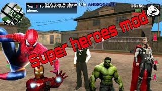 (No Root)How To Get Super Heros In Gta SA Android Hulk,Spider-Man,Batman,Super-Man Etc(Hindi/Urdu)