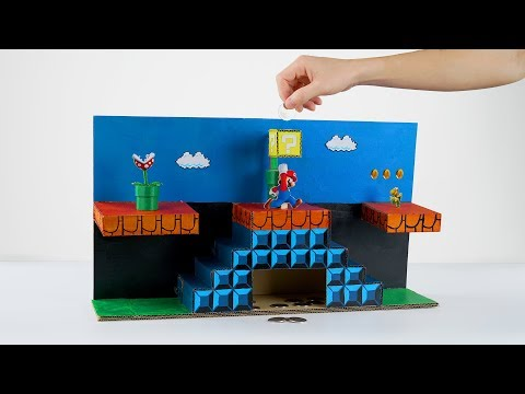 How to Make Super Mario Coin Bank Box from Cardboard