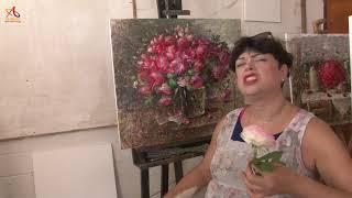 Видео урок живописи Фламенко