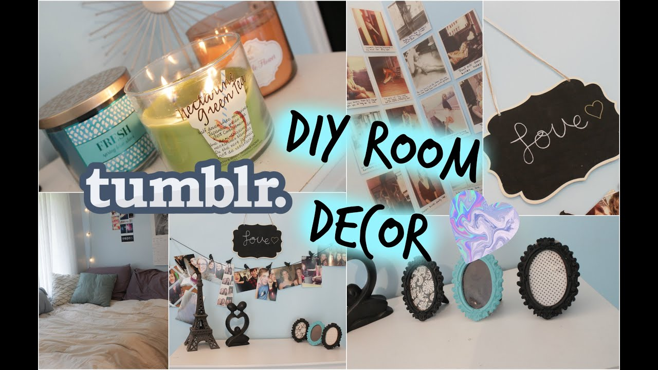Diy room decor tumblr inspired youtube for Diy room decorations youtube