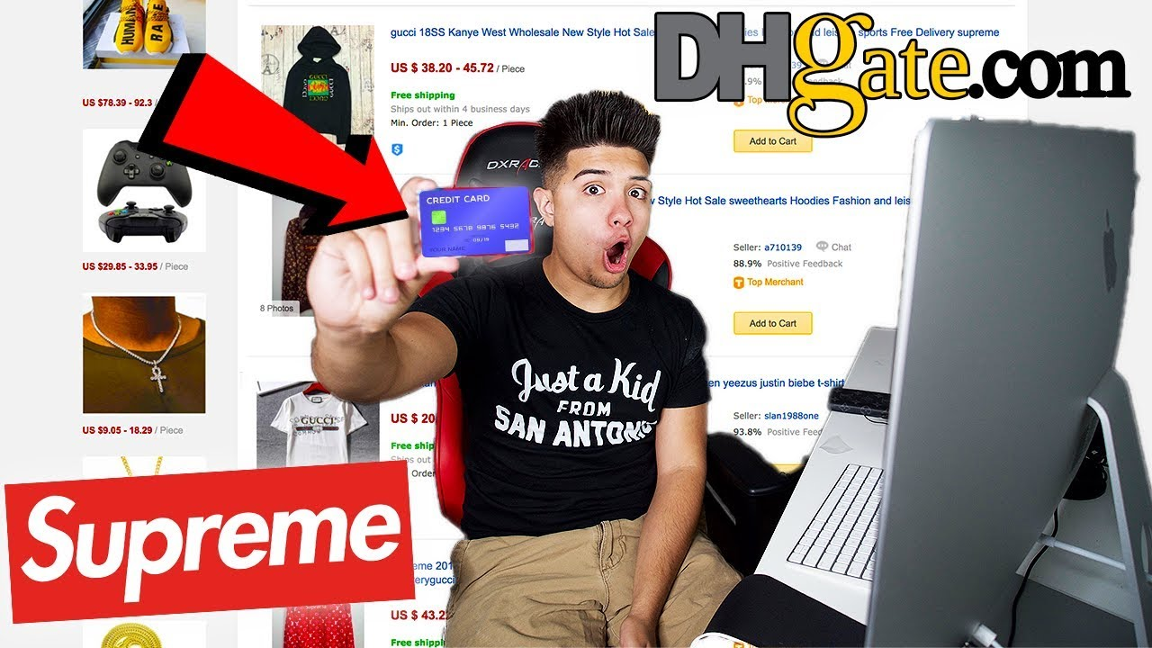 f7ee6a1c BUYING HYPEBEAST ITEMS FROM DHGATE! (GUCCI, SUPREME, YEEZYS) - YouTube