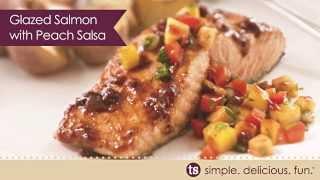Glazed Salmon With Peach Salsa