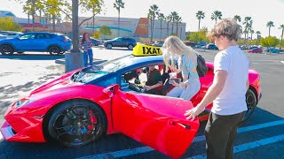 Picking Up TAXI Riders in a LAMBORGHINI!