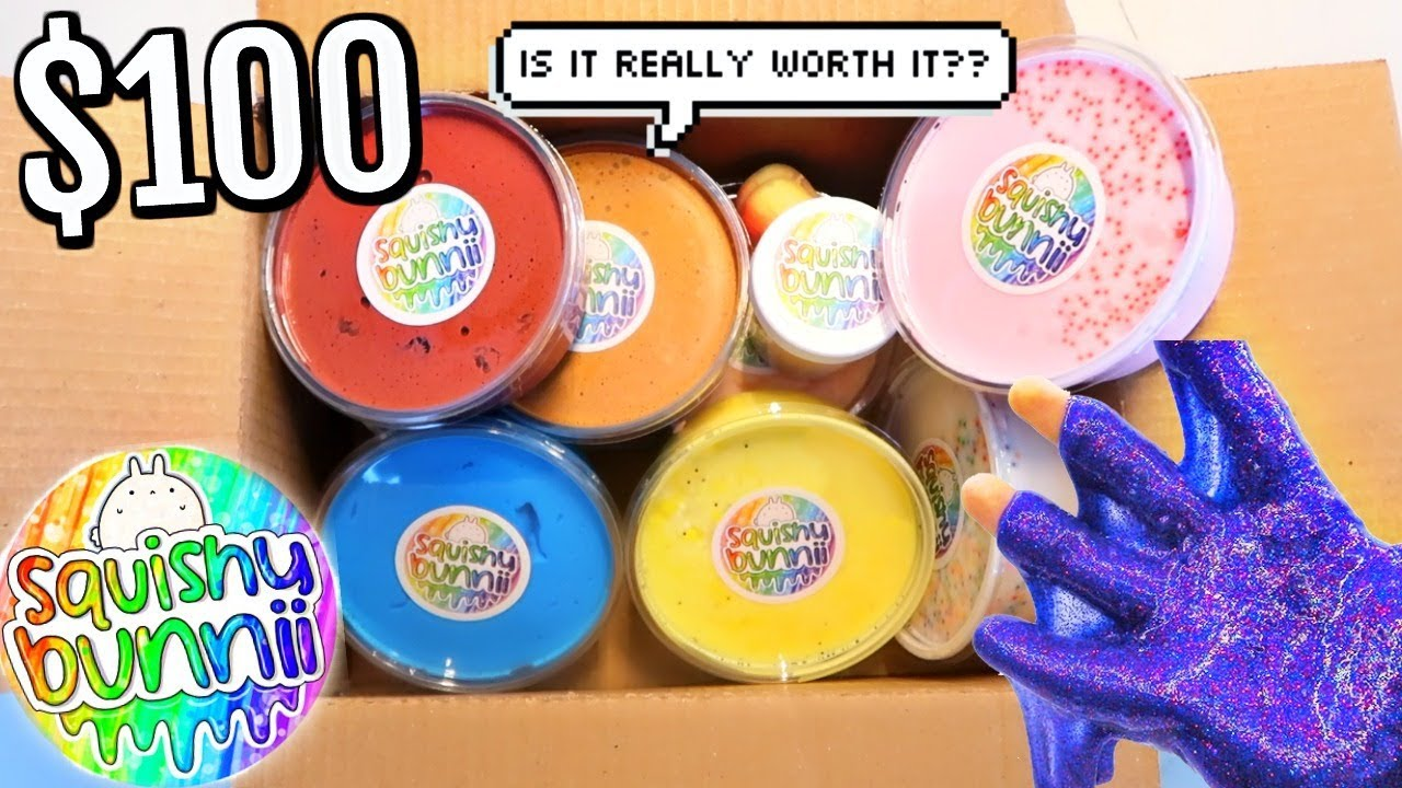 100% Honest SQUISHY BUNNI SLIME PACKAGE REVIEW ETSY SLIME SHOP REVIEW!!