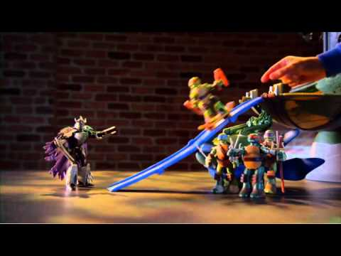 Tmnt tortues ninja mutations repaire de leo geant youtube - Tortues ninja leonardo ...