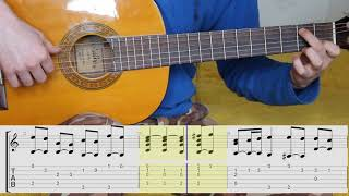 Air on a G String. J. S. Bach. Notes. Guitar Tabs.Ноты.Табы