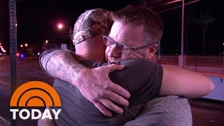 Las Vegas Shooting Victim Reunite With Hero Who Saved Him | TODAY
