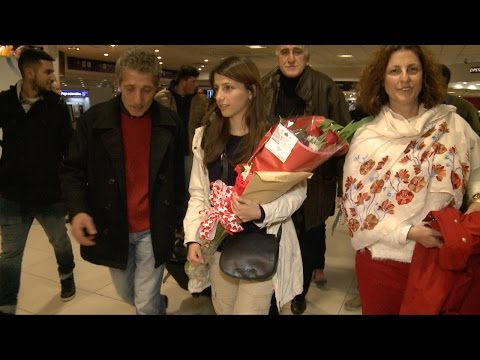 La joven refugiada Siria llegó a la Argentina