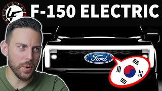 Ford's NEW electric F-150 is Korean powered...