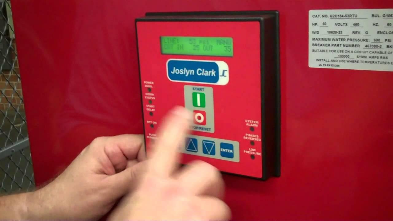 hight resolution of fire pump control motor rotation test joslyn clark
