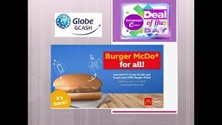 How to get free mcdonalds burger using gcash videos / InfiniTube