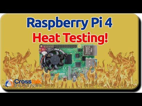 Raspberry Pi 4 Heat Testing