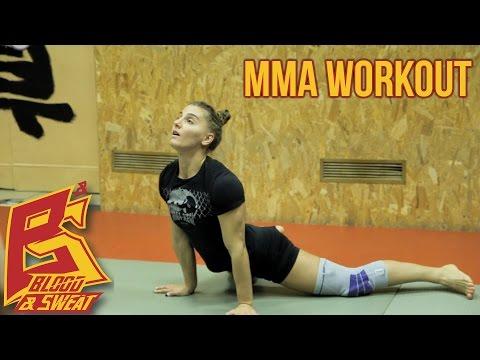 Круговая тренировка бойца ММА. Александра Албу. Alexandra Albu conditions workout.