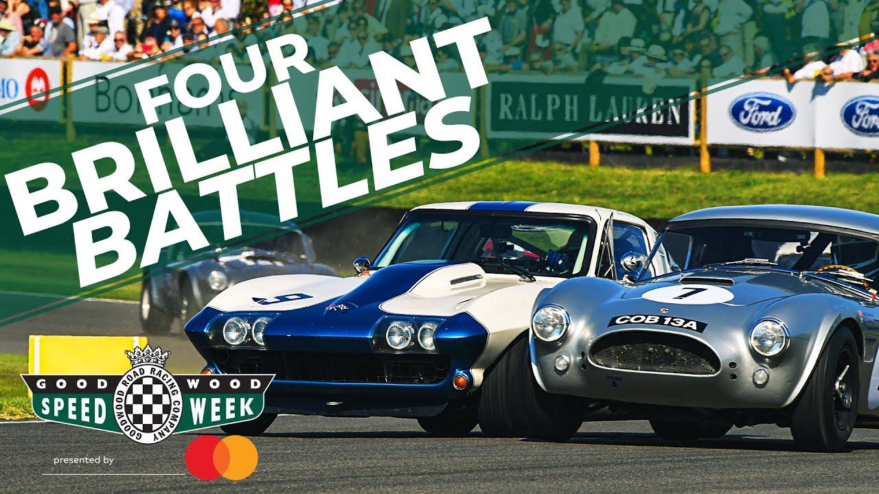 The four best battles of the RAC TT Celebration 2019   AC Cobras, TVR and Corvette! – YouTube