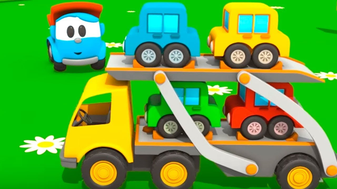 Juegos Para Colorear De Leo El Pequeno Camion: The Car Transporter. Kids' Cartoons.