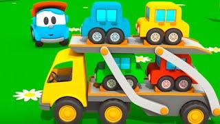 Leo the truck & car transporter. Kids cartoons. thumbnail