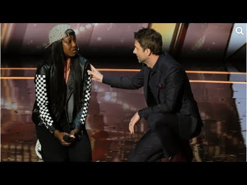 Teen earns Chris Hardwick's golden buzzer with rap in memory of father