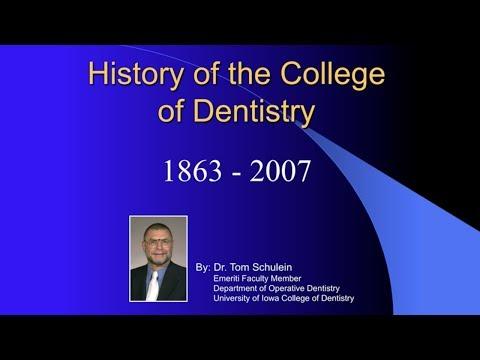 History of the University of Iowa College of Dentistry