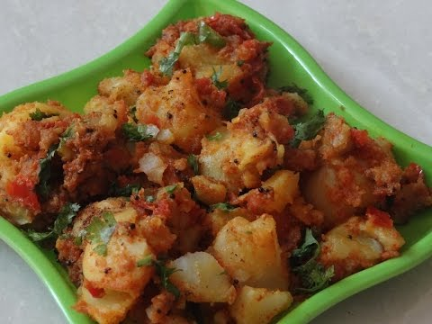 Aloo ki Sukhi Sabji - how to make dry potato sabji - Quick n easy steps