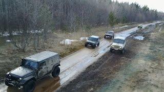 Доехали до Ладоги, 3 Нивы, УАЗ, Jeep, прохват с Combat Crew